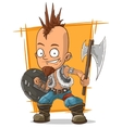 Cartoon postapokalipsis crazy punk vector image vector image