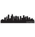 charlotte north carolina skyline detailed silhouet vector image vector image