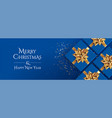 christmas background classic blue vector image vector image
