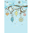 christmas background with baubles decoration vector image vector image