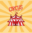 circus tent badge template arena for performances vector image vector image