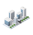 City three-dimensional winter town vector image vector image