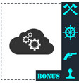 cloud storage preferences icon flat vector image vector image