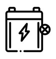 dead battery icon outline vector image vector image