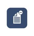 -delete document- icon flat design vector image vector image