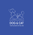 dog and cat logo design template vector image