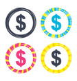 dollar sign icon usd currency symbol vector image vector image