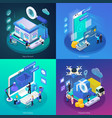 e-commerce glow isometric concept vector image