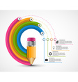 Education infographics for presentations or vector image vector image