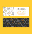 fast food special offer banner templates set junk vector image vector image
