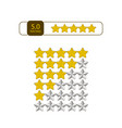 five stars rating icon eps10 vector image