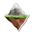 floating piece of land icon vector image