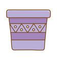 flowerpot icon cartoon vector image vector image