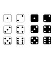 game dice set dice isolated on white vector image
