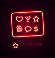 glowing neon bar signs set with glitter vector image vector image