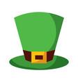 green hat leprechaun for st patricks day vector image vector image