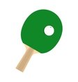 Green racket for playing table tennis flat icon vector image vector image