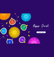 happy diwali holiday flower candles web template vector image vector image