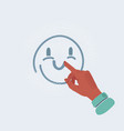 happy icon face hands vector image