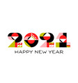 happy new year 2021 logo with asian design element vector image vector image