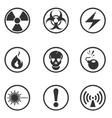 Hazard Sign Icons vector image vector image