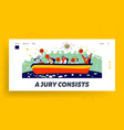 judges committee work landing page template vector image vector image