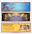 Knight Horizontal Banners Set vector image vector image