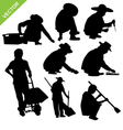 labour silhouette vector image vector image