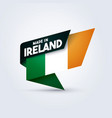 made in ireland flag vector image vector image