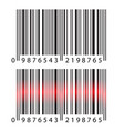 modern realistic simple barcode barcode with red vector image