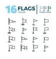 outline icon set flags editable stroke simple vector image