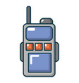 paintball portable radio icon cartoon style vector image vector image