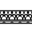 polish folk art cutout pattern with women vector image vector image