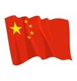 Political waving flag of china