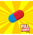 Power pill for men Color Tablet for potency vector image vector image