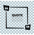 quote speech bubble template quotes form speech vector image vector image