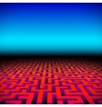 Retro gaming hipster neon landscape with labyrinth vector image vector image