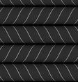 Ribbons black horizontal chevron pattern vector image vector image