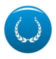 royal wreath icon blue vector image vector image