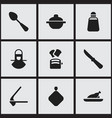 set of 9 editable food icons includes symbols vector image vector image