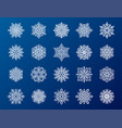 snowflake season nature winter snow symbol frozen vector image vector image