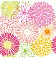Springtime colorful flower seamless pattern vector | Price: 1 Credit (USD $1)