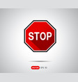 traffic stop sign icon logo vector image vector image