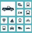 transportation icons set collection of skooter vector image vector image