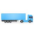 truck semi trailer 04 vector image vector image