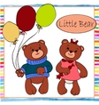 Two little boy and girl bear vector image