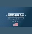 usa memorial day holiday back vector image