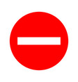 usa traffic road signskeep out do not enter vector image