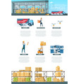 warehouse service operation infographic banner vector image vector image