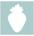 the strawberry the white color icon vector image
